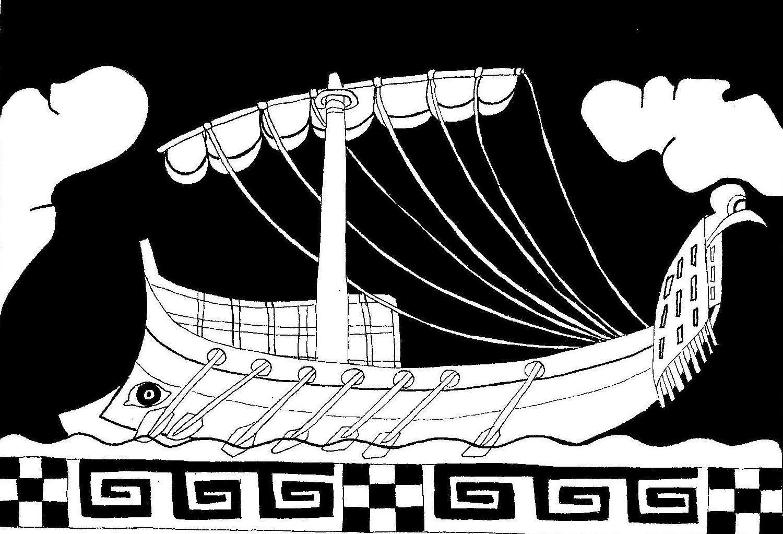 bateau ulysse dessin